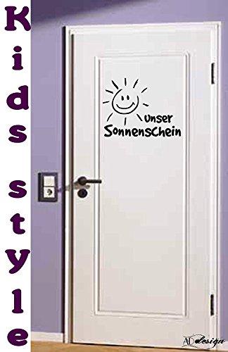 TREND KIDS - Tür/Wand Tattoo fürs Kinderzimmer ***Unser Sonnenschein*** - (Größen und Farbauswahl)