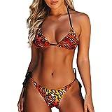 JUSTSELL ▾ Bikini Damen, Damen Bikini Damen Set Bademode Push Up Bikini Set Zweiteilige Badeanzug Strandkleidung Crossover Neckholdet Leopard Bikini Bademode Badeanzug