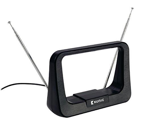 fm antennenkabel König UKW/VHF/UHF/DVB-T Zimmerantenne (5-7dB)