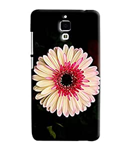 Blue Throat White Flower Pattern Hard Plastic Printed Back Cover/Case For Xiaomi Mi4