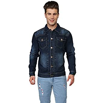 Ripfly Blue Cotton Casual Jackets for Men