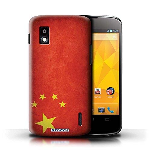 Kobalt® Imprimé Etui / Coque pour LG Nexus 4/E960 / Honduras conception / Série Drapeau Chine/chinois