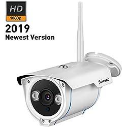 Sricam SP007 1080P HD Caméra de Surveillance Caméra IP Extérieur CCTV WIFI P2P IP66 pour Extérieur et Intérieur Support Onvif avec Vision Nocturne Détection de mouvement compatible avec iOS et Android