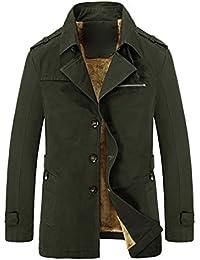 Yasong Men's Military Parka Jacket Thick Padded Lined Overcoat Winter Coat