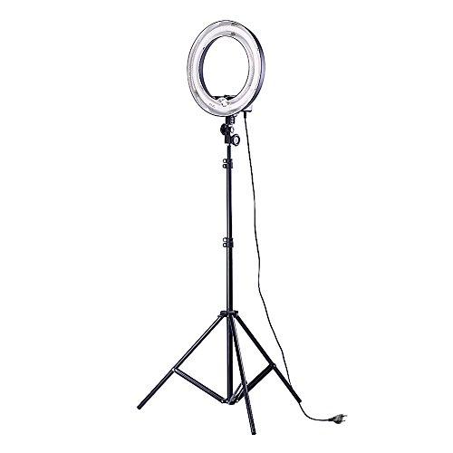 Neewer Anneau Flash Fluorescent, (1) 400w 5500K Lampe Anneau + (1) 190cm Pied Lumineux pour Photo Portrait Vidéo