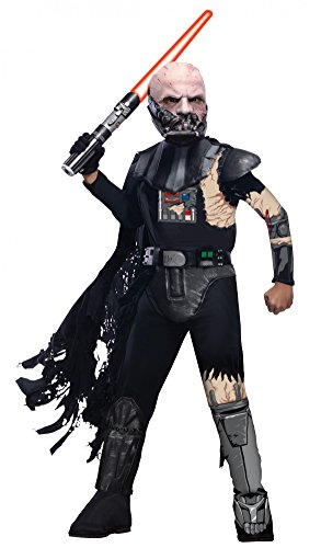 Deluxe Kenobi Wan Obi Kostüm - Star Wars Deluxe Darth Vader vs Obi Wan Kenobi Kostüm Kinderkostüm Kampf Gr. S-L, Größe:M