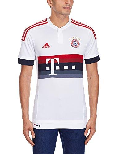 Adidas, Maglia a maniche corte FC Bayern Bambino, Bianco (White/Power