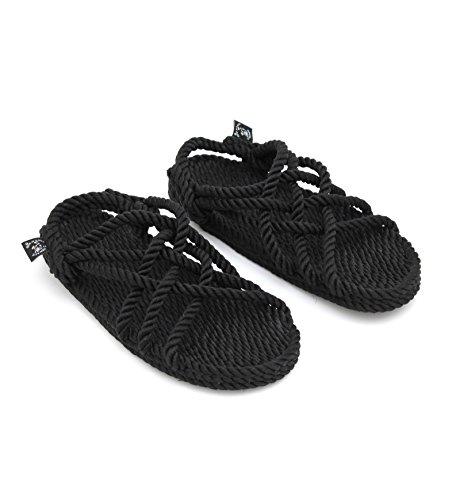 Nomadics JC Unisex-Erwachsene Sandale aus Seil Black, 44 -