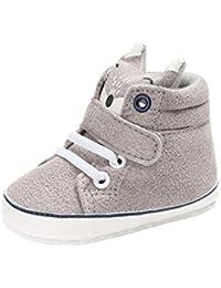 5bdeebcf27493 Bonjouree Chaussures Premiers Pas Bébé Garçon Fille Souples Sneaker Hiver  antidérapant