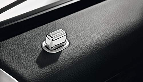 Mercedes Benz AMG Original Aluminium Chrome Porte Épinglette Kit 4 Pièces sans Cadre Carré Argent W 220 CLASSE S An de Construction: 10/1998 Jusqu'à 08/2005
