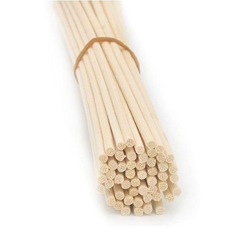 Stick-duft-Öl (Natürlicher Farbton Rattan Schilf Diffuser Ersatz Ersatzstäbchen für Aroma (16cm*3mm))