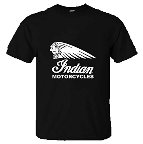 New Unisex INDIAN MOTORCYCLES T Shirt Top Biker Motorbike USA Retro Vintage Victory 100% Soft Cotton Shirt Looks, Feels & Fits Great (LARGE: 14 - 16, BLACK) (Motorcycle T-shirt Indian)