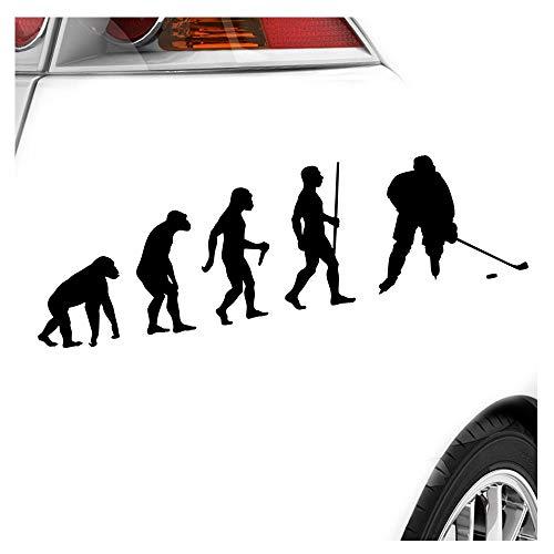 Kiwistar Eishockey Puck Evolution Aufkleber Sticker 25 Farben Neon Matt