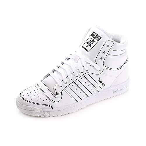 Baskets montantes adidas Originals Top Ten pour homme en blanc
