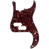 Musiclily Pro 13 Agujeros Estilo Moderno P Bass Pickguard Golpeador para Bajo Precision Bass de Fabricación Americana de 4 Cuerdas,4 capas Tortoise