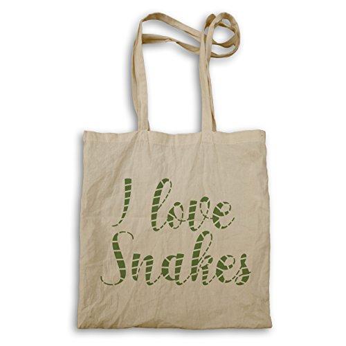 Ich liebe Schlangen lustige Neuheit Tragetasche d247r (Ich Liebe Schlangen)