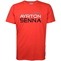 Ayrton Senna McLaren–Camiseta Three Times World Champion, rojo, extra-large