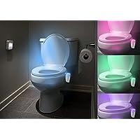 Aquatrend 3batterie AA creative invenzione Best luce movimento attivato bagno decorazione di WC installare UV (Notte Bagno Luce Decor)
