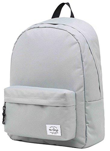 SIMPLAY Klassischer Schulrucksack Büchertasche | 44x30x12.5cm | Verschiedene Farben | Silber