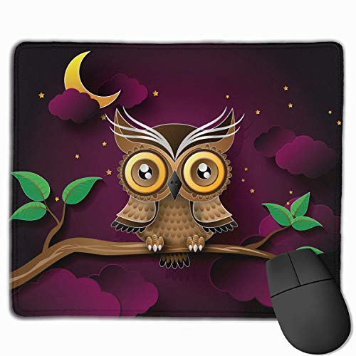 ight Branch Rectangle Rubber Mousepad 11.81 X 9.84 Inch Gaming Mouse Pad with Black Lock Edge ()