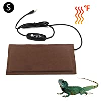 NAKELUCY Reptile Heating Pad,5V Adjustable Reptile Heat Pad with Temperature Control,USB Safety Aquarium Heat Mat Enjoyable