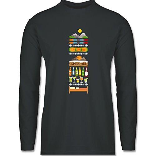 Après Ski - Apres Ski Tag - Longsleeve / langärmeliges T-Shirt für Herren Anthrazit