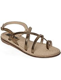 Flat N Heels Womens Brown Flat Sandals