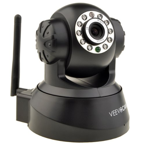 Neewer® P2P Plug & Play Wireless Pan & Tilt IP/Network Internet Camera, Surveillance Camera System, Baby Monitor, Pets Monitor, Home Security, Two-Way Audio, Night Vision, Built-in Microphone With Cell Phone Remote Monitoring, Works with:iPhone/3g/3gs/4/4s/5/5c/5s/6/6plus / ipad1/2/3/4/air/mini / Samsung Galaxy S5/S4/S3/S2 all other ios or android system Smart Phones and pc, Email Alert Snapshot(Black)