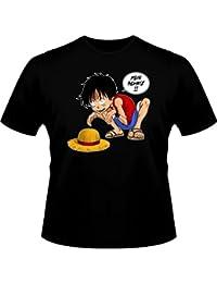 T-Shirt Manga - Parodie auf One Piece und Gollum von LOTR - Traduction allemand - Mein Schatz - T-shirt Homme Noir - Haute Qualité