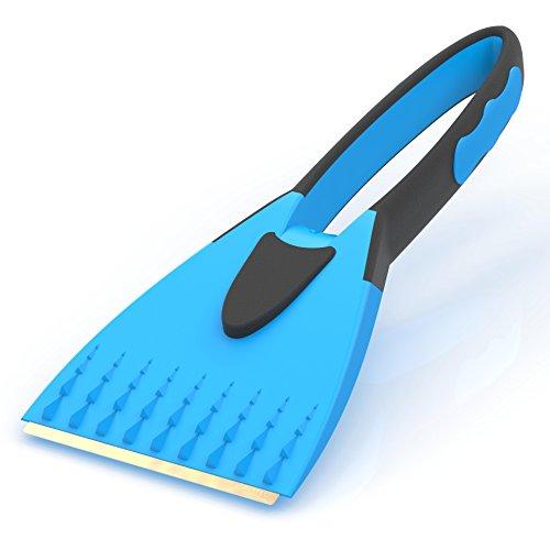 AUPROTEC-Raschietto-per-ghiaccio-2K-con-lama-di-ottone-e-manico-morbido-integrato-colore-blu
