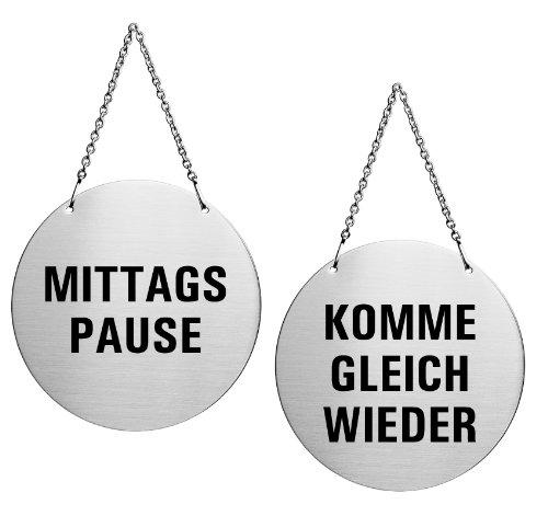 OFFORM Wendeschild Türhänger aus Edelstahl