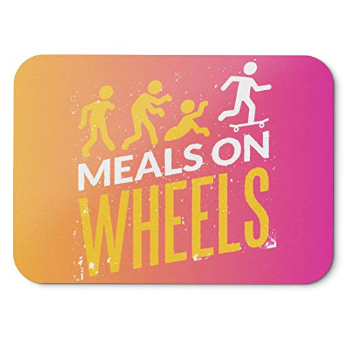 BLAK TEE Halloween Meals on Wheels Mouse Pad 18 x 22 cm in 3 Colours Pink Yellow