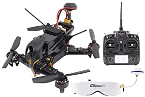 XciteRC 15003960–F210Racing Quadrocopter RTF with Sony HD FPV Camera OSD Video Glasses GOGGLE2, Battery, Charger and Devo 7Transmitter–Black from XciteRC