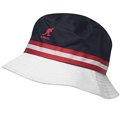 Kangol Herren Stripe Bucket Hut Mütze Marinefarbe/rot Small/Medium Kangol Stripe
