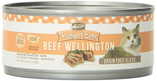 Merrick Purrfect Bistro Grain Free Beef Wellington Canned Cat Food, 5.5 oz., Case of 24 by Merrick Pet Care (Purrfect Cat Food)
