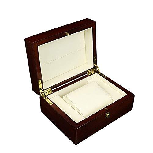 Yyqtsnh Moderne handgemachte Box mit Schloss und Schlüssel Schreibtisch oder Kommode Schmuckstück Andenken Inhaber perfekte Uhr Aufbewahrungsbox (Uhr Inhaber Männer)