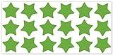 wandfabrik - Fahrradaufkleber 18 Sterne in lindgrün - Wandtattoo geeignet als Dekoration Klebefolie Wandbild Wanddeko Tiere für Wohnzimmer Kinderzimmer Babyzimmer Badezimmer Fliesen Tapete Küche Flur Wohnung und Schlafzimmer für Junge Mädchen Baby Kinder Wandtattoos
