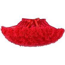 Yiiquan Niñas Mini Falda de Ballet Skirt Princesas Tutú de Tul para Baile Disfraces Fotografía Fiesta Despedida de Soltera