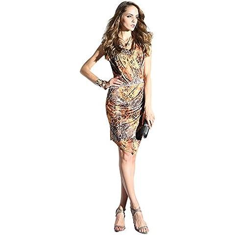 Oulu Mujeres 2016 del nuevo diseño de lujo de la vendimia vestido con cinturón 272656 (S)