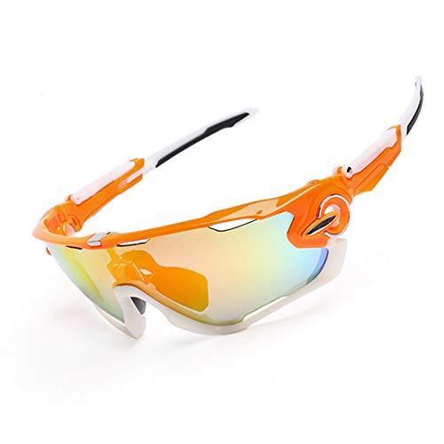 Yiph-Sunglass Sonnenbrillen Mode Reitbrille for Männer und Frauen mit polarisierten Sonnenbrillen (Farbe : Orange)