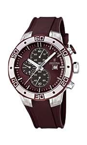 Festina - F16667/3 - Montre Homme - Quartz - Chronographe - Chronomètre/ Aiguilles lumineuses - Bracelet Caoutchouc Marron
