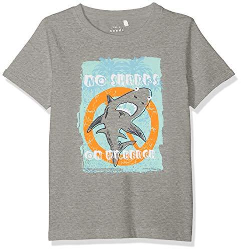 NAME IT Jungen NMMVUX SS TOP H T-Shirt, Grau (Grey Melange), (Herstellergröße: 104)