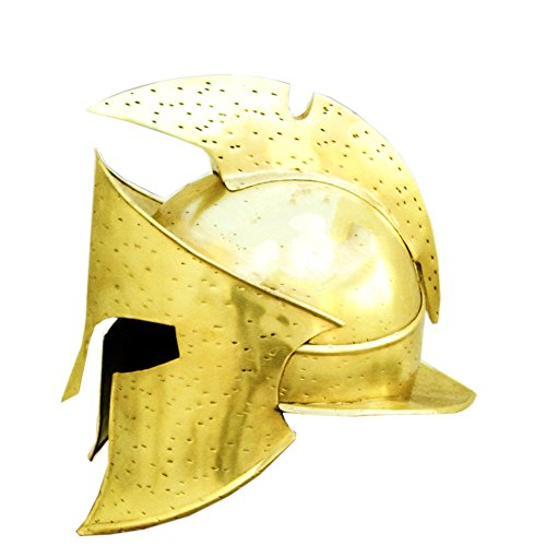 Leonidas Kostüm Spartan King - Queen Messing 300King Leonidas Spartan Film Helm Mittelalter Rollenspiel SCA Kostüm rutschsicher Standard Gold