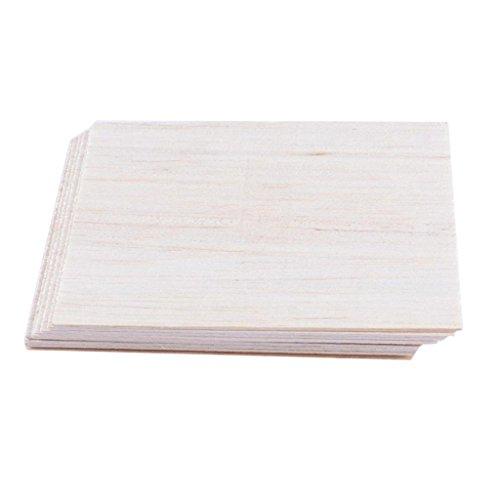 Sharplace Sperrholz-Platten DIY Holzplatten Multiplex Bastelholz Holzplatte - 10er 150mm×100mmx2mm