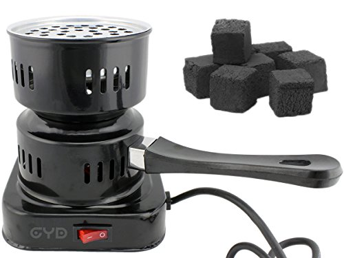 GYD elektronischer Kohleanzünder Shisha Kohle (Schwarz)