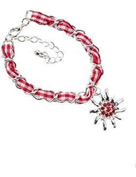 Trachtenarmband Edelweiss Gliederkette Klassik - elegante und traditionelle Gliederkette / Armband für Dirndl...