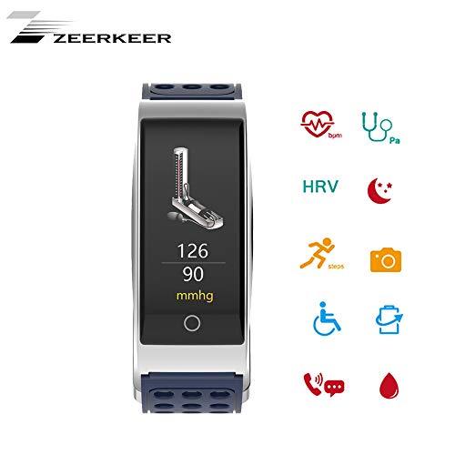 Zeerkeer Fitness Tracker Wasserdicht mit Schrittzähler Schrittzähler Kalorienzähler HR Smart Watch Armband für Android ios