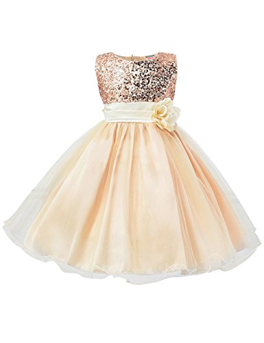 Showtime Mädchen Kleid Pinzessin Kostüm - Gold - ca. Alter 5 bis 6 (in Jahren)