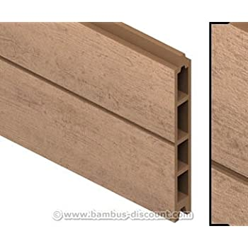 Einzelprofil WPC Zaun, mandel mit 15x2,1x178 - Sichtschutz, Sichtschutz Elemente, Sichtschutzwand, Windschutz, Sichtschutzzäune