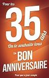 Telecharger Livres Bon anniversaire 35 ans Livre a ecrire (PDF,EPUB,MOBI) gratuits en Francaise